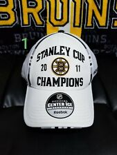 Boston Bruins 2011 Stanley Cup Champions Reebok Hat NHL NEW Fitted with Stickers