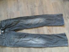 FORNARINA stylische used destroyed Jeans grau Gr. 10 J TOP RC517