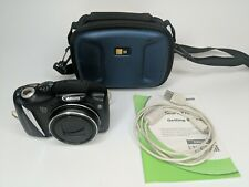 Canon PowerShot SX130 IS 12.1 MP Digital Camera 12X - Black (With Case) TESTED