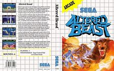 Altered Beast Sega Master System Replacement Box Art Case Insert Cover Scan