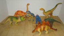 """Vintage 1990's lot of 7 prehistoric animals 7""""-9"""" - all Vgc & Clean"""