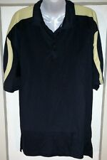 Russell Short Sleeve Men's Sports Shirt XL Black Yellow Polyester Stretchy