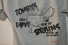 Zombies only Love me for my Brains The Walking Dead Woodbury Senoia GA T shirt
