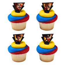 The Incredibles Pixar movie cupcake rings (24) favor cake topper 2 dozen