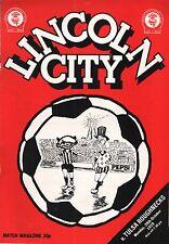 1979/80 Lincoln City v Tulsa Roughnecks (USA), friendly, PERFECT CONDITION