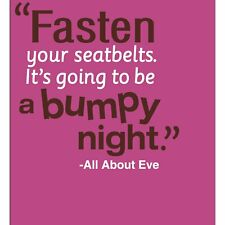 All About Eve Fasten Seatbelts Bumpy Night Birthday Party Beverage Napkins