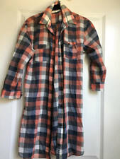 Ruehl Shirt Dress Plaid Check Womens Sz M 100% Cotton Gently Worn
