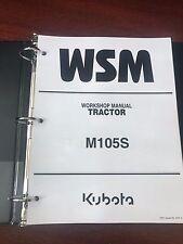 Heavy equipment manuals books for kubota tractor ebay kubota m105s tractor service repair workshop manual binder fandeluxe Choice Image