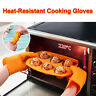 1 Pair Gloves Heat Resistant Silicone Gloves Kitchen BBQ Oven Cooking Mitts New