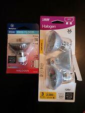 Four 120V Quartz Halogen Floodlight Bulbs