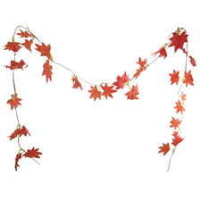 5 x Artificial Autumn Maple Leaf Garlands