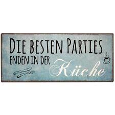 La Vida - Schild für Dich - Die besten Parties enden in der Küche - Spruch