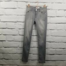 DL1961 Womens Sz 26 Emma Power Legging Jeans Ankle Gray Distressed Released Hem