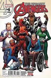 Uncanny Avengers Comic 6 Cover A First Print 2016 Gerry Duggan Carlos Pacheco
