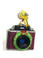 Vintage 1997 Warner Bros Tweety Bird with Camera Christmas Tree Ornament
