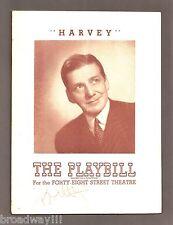 """Frank Fay """"HARVEY"""" Mary Chase / Pulitzer Prize / Bob Hope (Signed) 1945 Playbill"""
