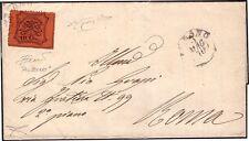 STATO PONTIFICIO 1870 - 10 c. n. 26 ALBANO p. R1 x ROMA SPL € 13.500