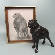 Bronze Sculpture of Grotesque Fantasy Dog J. Kearns - New Jersey Sketch BR