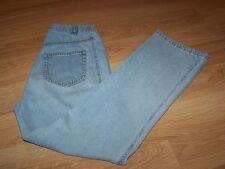 Size Small Oh Mamma Maternity Denim Blue Jeans Pants Tummy Panel Light Wash EUC