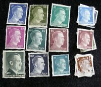 MILITARY WORLD WAR TWO ADOLF HITLER POSTAGE STAMPS GERMANY