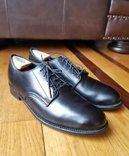 WALK-OVER For J. CREW Black Leather Plain Toe Oxford Shoe Size 10M Made In USA