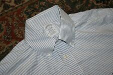 Brooks Brothers Regent Non Iron Blue Stripe Oxford Cotton Sport Shirt Small S