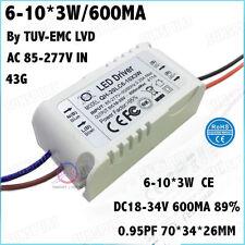 5PCS AC85-277V 20W By CE LED Driver 6-10Cx3W 600mA DC35-68V Constant Current 90%