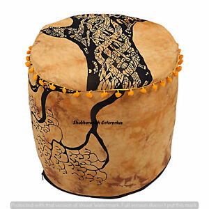 Mandala Tapestry Round Pouf Cover Indian Pouffe Footstools Seat Ottomans Bags 22