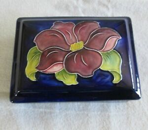 Moorcroft Pottery Box, Hibiscus, Made in England
