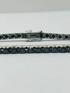 Bracciale tennis uomo donna oro 750% diamanti neri 3.57 ct - Diamond bracelet