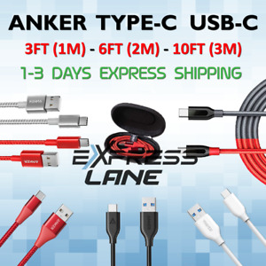 ANKER Type C USBC Cable 3FT or 6FT or 10FT thick durable braided lot For Android