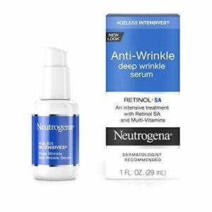 Neutrogena Ageless Intensives Anti-Wrinkle Deep Wrinkle Face Serum Treatment wit