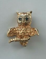 Too Cute to Scrap - 11.3 grams Adorable 14k yellow gold Owl Brooch Pin -