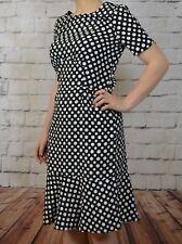 NEW NEXT TALL UK 14 LADIES POLKA DOT DRESS