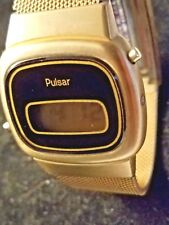 Rare Vintage 1978 Pulsar - Hamilton LCD Men's Dress Watch, Works!