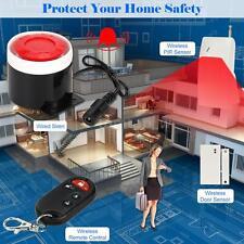 Super Loud Wireless Home Alarm Security Burglar System Doorbell Remote New A6D6