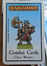 WARHAMMER CHAOS WARRIORS   COMBAT CARDS SET