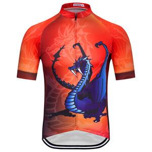 Men's Cycling Jersey Clothing Bicycle Sportswear Short Sleeve Bike Shirt J12