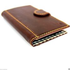 genuine italian leather Case for Samsung Galaxy S4 SIII book wallet brown cover