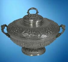 A TIFFANY AESTHETIC PERSIAN-INSPIRED STERLING SILVER SOUP TUREEN
