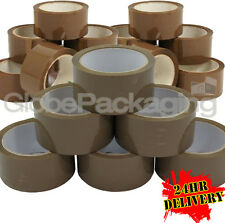 360 Rolls Of LOW NOISE BROWN Buff Parcel Tape 48mmx66M