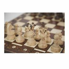 Vintage Wooden Chess Game Hand Carved Board Pieces Large 21 Inch Full Set New