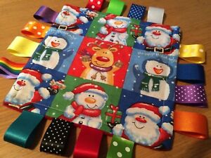 CHRISTMAS BABY/TODDLER TAGGY BLANKET/COMFORTER/GIFT ***MANY OPTIONS***