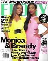 Ebony Magazine Monica Brandy Music Issue Star Style Secrets Hottest Artists 2012