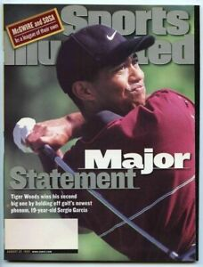 SI: Sports Illustrated August 23, 1999 Major Statement: Tiger Woods, Golf, VG