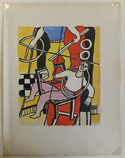 """Fernand Léger lithographie """"Le cirque"""" Circus """"Deux équilibristes"""" 1950"""