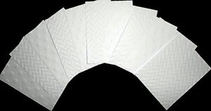 EMBOSSED WHITE PAPER  PACK x 10 - 2 designs  -SCRAPBOOKING/CARDMAKING