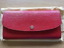 Authentic Louis Vuitton Emilie Wallet EPI leather red EXCELLENT CONDITION
