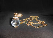 Swarovski Jewelry Crystal Perfume Bottle Atomizer Pendant Necklace