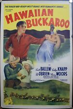 1938 Hawaiian Buckaroo | Sol Lesser Original Vintage Movie Poster